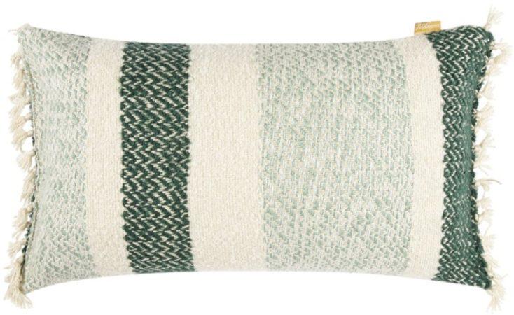 Afbeelding van Groene Malagoon Berber Grainy sierkussen 35 x 60 cm