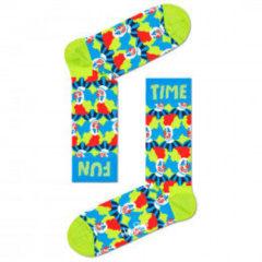 Happy Socks - Clown Sock - Multifunctionele sokken maat 36-40, groen/blauw