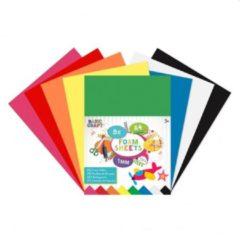 Craft Sensations Foam vellen A4 | 8 verschillende kleuren | 1 MM dik | Knutselen voor kinderen