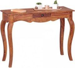 Wohnling Konsolentisch OPIUM Massivholz Sheesham Konsole mit 1 Schublade Schreibtisch 100 x 40 cm Landhaus-Stil Sideboard