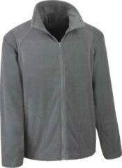 Antraciet-grijze Senvi Basic Fleece Vest - Thermisch laag microfleece - Kleur Antraciet- Maat S