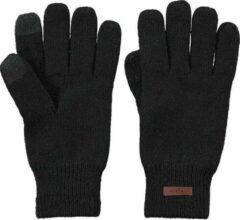 Zwarte Barts Rilef handschoenen van wol