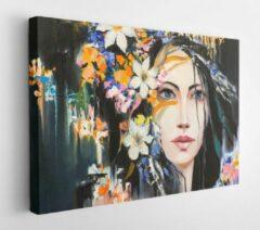 Onlinecanvas Fantasy portrait of flowering Dryad oil painting - Modern Art Canvas - Horizontal - 341545874 - 40*30 Horizontal