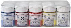 Royal Talens Gouache Extra Fine Quality set 10 kleuren 16 ml flacons plakkaatverf dekkende waterverf tempera