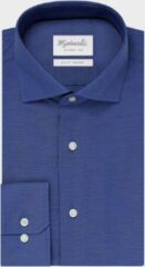 Blauwe Michaelis Uni Royal Blue Oxford katoenen overhemd 38