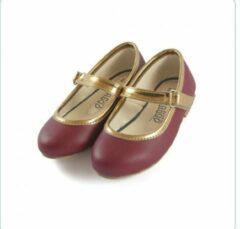 Bordeauxrode Tamago shoes Kinderschoenen Meisje Ballerina Model Nicole Mt 25 (2-3 jaar) Bordeaux