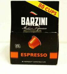 Barzini Koffiecups - Italian Espresso - 80 koffie cups