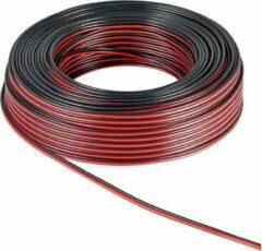 Rode Goobay 67733 Luidsprekerkabel 2 x 1.50 mm² Rood/zwart 25 m