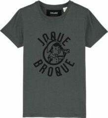 Grijze Cheaque Unisex Unisex T-shirt Maat 122/128