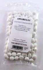 Amarelli Laurierdrop pepermunt wit zakje 100 Gram