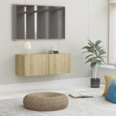 Bruine VidaXL Tv-meubel 80x30x30 cm spaanplaat sonoma eikenkleurig