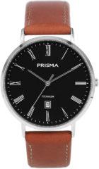 Prisma Titanium P.1486 Tailor herenhorloge leer bruin