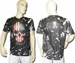 Zwarte Bones Sportswear Shirt American Skull Maat XS