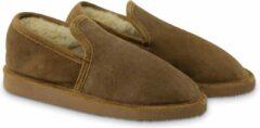 Bruine Texelana sloffen en pantoffels voor dames & heren - pantoffel van schapenvacht - model Christa - maat 38