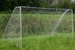 Grijze Engelhart Stalen voetbaldoel goal 450 x 200 x 180cm voetbalgoal