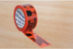 Verpakkingstape PP Raadhuis - 50mmx66m oranje met zwart teks