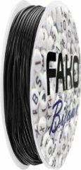 Fako Bijoux® - Elastisch Nylon Draad - Sieraden Maken - 0.5mm - 10 Meter - Zwart