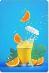 MousePadParadise Muismat Dranken - Sinaasappelsap uit papieren beker muismat rubber - 18x27 cm - Muismat met foto