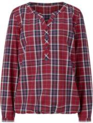 Blauwe Casual Looks blouse van zacht flanel