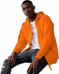 Gildan Oranje vest/jasje met capuchon voor heren - Holland feest kleding - Supporters/fan artikelen XL (44/54)