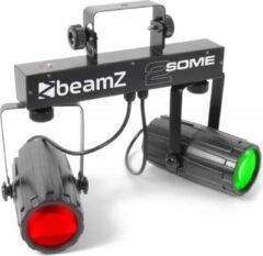 Zwarte BeamZ 2-Some LED lichteffect met afstandsbediening