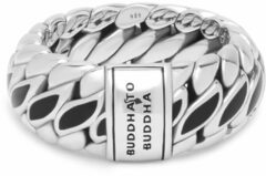 Buddha to Buddha 490BL Ring zilver Ben Special Black Maat 18