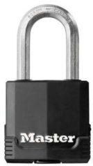 Zwarte Master lock hangslot excell 49 mm gelamineerd staal m115eurdlf