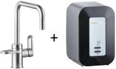 Kokendwaterkraan HotSpot Adrianna Stainless Steel Effect Inclusief 4 Liter Boiler