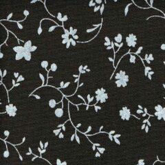 Acrisol Erei Marron Oscuro 201blauw bruin gebloemd stof per meter buitenstoffen, tuinkussens, palletkussens