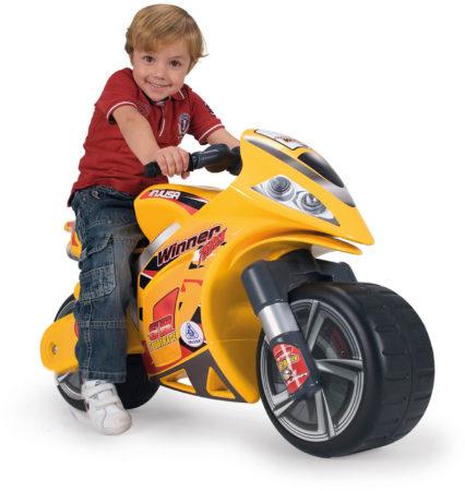 Afbeelding van Gele Speelgoed Motor Winner - Loopauto Motor - Voor Kinderen - Injusa