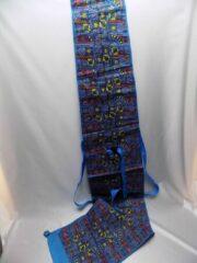 Hein Skihoes blauw Aztecprint 1 paar