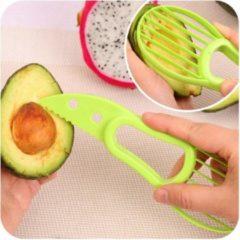 Groene REBL Multifunctionele 3 in 1 Avocado snijder - Eenvoudig avocado reepjes snijden