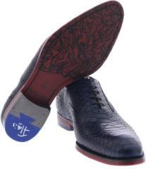 Blauwe Floris van Bommel 19104 17 Dark Blue G+ Wijdte Veterschoenen