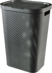 Antraciet-grijze Curver Infinity Recycled Wasbox - 60L - Antraciet