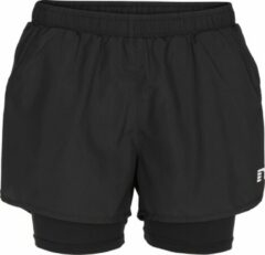 Zwarte Newline Base 2 Layer Shorts 13748-604 - Hardloopbroek - Dames - Black - Maat L