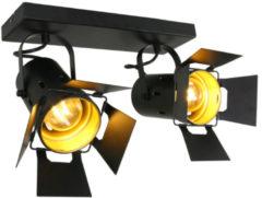 Steinhauer Zwarte opbouwspot Carré 2-lichts Steinhauer 7997ZW