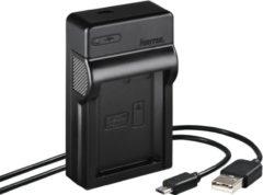 "Zwarte ""Hama USB-oplader """"Travel"""" voor Canon LP-E10"""