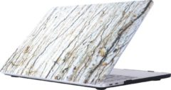 Gele Mobigear Hardshell Case Marmer Serie 32 Macbook Pro 15 inch Thunderbolt 3 (USB-C)
