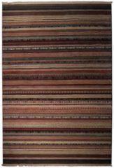 Donkerbruine Vloerkleed Nepal - Medium - 160x235cm - Donkerbruin - Zuiver