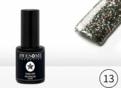 Awesome #13 Zwart met grove glitter Gelpolish - Gellak - Gel nagellak - UV & LED