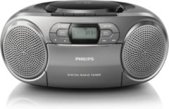 Zilveren Philips AZB600 - DAB+ Radio/CD-speler - Grijs