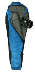 10-T Outdoor Equipment 10T Innoko 300XL - Einzel Mumien-Schlafsack 230x85/55cm schwarz/blau Winterschlafsack bis -18°C