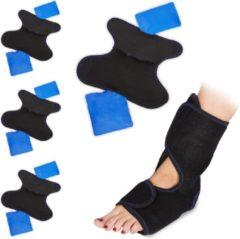 Relaxdays 4 x hot cold pack voet - koud kompres - kompressen - koelkussen voor blessures