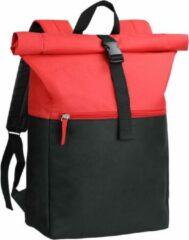 Beige Derby of Sweden Derby Sky Backpack - Roltop Rugzak - Rood - 16 Liter