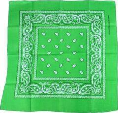 Meneer Bart Zakdoek / Bandana licht groen 54x54cm