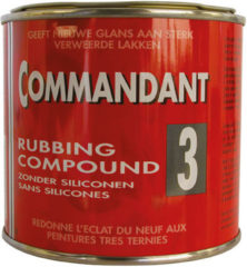 Transparante Commandant Rubbing Compound nr. 3 - 500gr.
