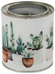 Massamarkt Kaars in blik 'cactus' Ø8x9cm