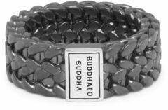 Buddha to Buddha 193BRS Ring Julius Black Rhodium Silver Maat 17,5
