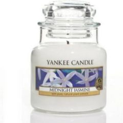 Witte Yankee Candle Small Jar Geurkaars - Midnight Jasmine