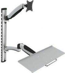 Digitus DA-90354 Monitor-wandbeugel 1-voudig 38,1 cm (15) - 68,6 cm (27) In hoogte verstelbaar, Toetsenbordhouder, Kantelbaar, Zwenkbaar, Roteerbaar